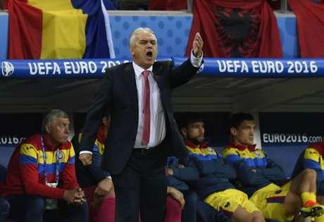 Romênia terminou a Eurocopa com um empate e duas derrotas (Foto: Philippe Desmazes / AFP)