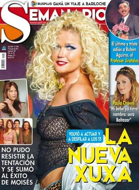 Apresentadora é tratada como rainha na imprensa argentina (Foto: Reprodução)