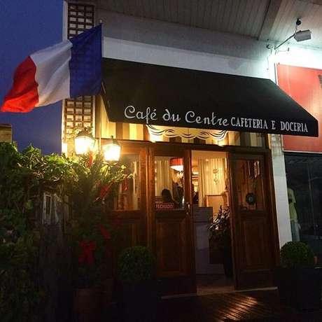Fachada da matriz da Café Du Centre, em Itapema (SC)
