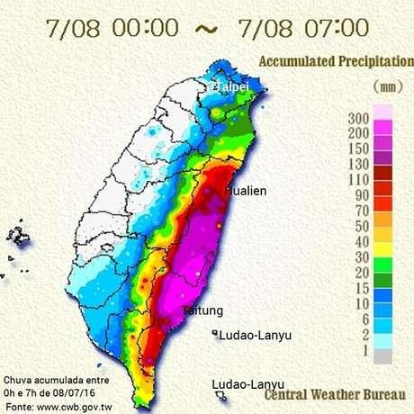 Supertufão atinge Taiwan e mais de 15 mil pessoas deixam suas casas
