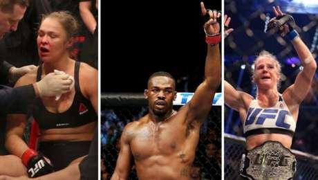 Ronda Rousey, Jon Jones e Holly Holm são destaques em rankings (FOTOS: Reprodução)