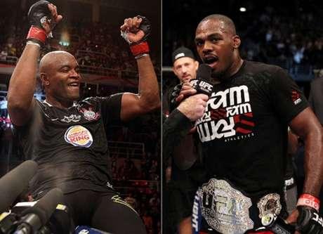 Anderson Silva e Jon Jones (Fotos: Divulgação/UFC)