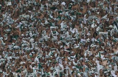 Torcida do Palmeiras deve lotar mais uma vez o Allianz Parque, na terça-feira (Foto: Cesar Greco)