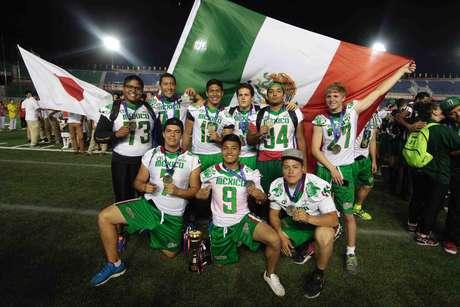 Ceremonia de premiación a la Selección mexicana U19 en el Campeonato Mundial de la especialidad