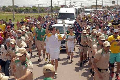 O lutador de MMA Lyoto Machida recebeu R$ 21 mil do Governo do Pará para conduzir a tocha olímpica em Belém (PA), que foi alvo de muitas críticas