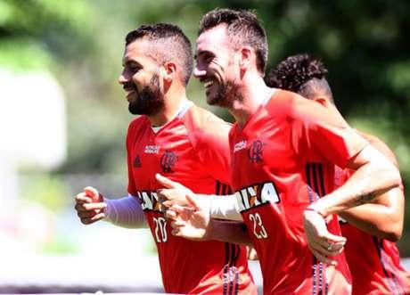 Mancuello em treino do Flamengo (foto:Paulo Sergio/LANCE!Press)