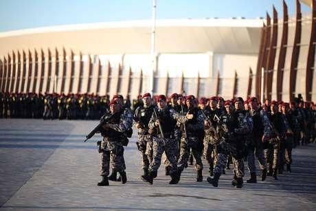 Homens da Força Nacional de Segurança no Parque Olímpico do Rio de Janeiro