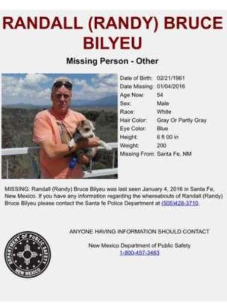 Randy Bilyeu desapareceu após sair em busca do tesouro de Fenn