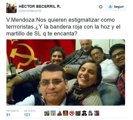 Verónika Mendoza: Foto publicada por Becerril