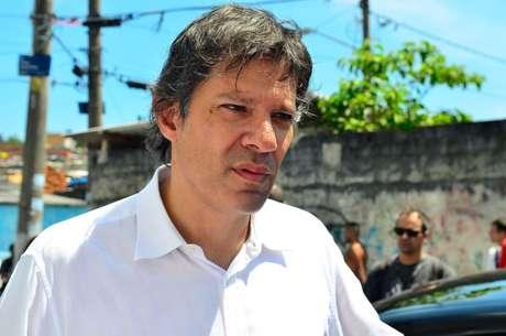 O prefeito Fernando Haddad recebeu apoio do PR à sua reeleição em São Paulo