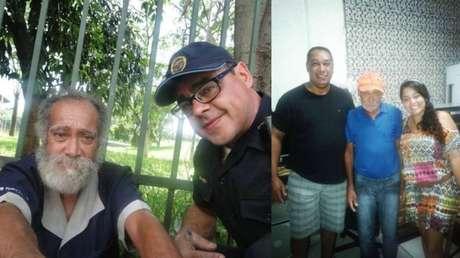 Paulo, acolhido por Marcos em São Paulo, voltou para a casa de sua família (à dir.) no Rio Grande do Sul, onde vive até hoje