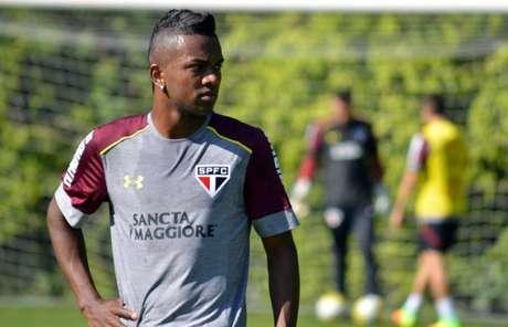 Atacante Kelvin, em treino do São Paulo (Foto: Érico Leonan/saopaulofc.net)