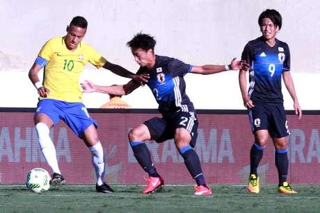 Neymar teve atuação discreta no amistoso contra o Japão