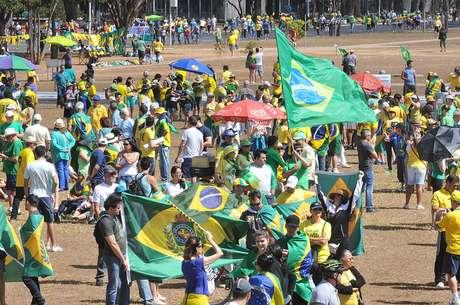 Manifestação pró-impeachment em Brasília