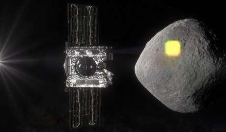 Simulação da Nasa da exploração do asteróide