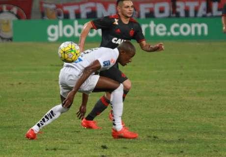 Pará e Caju travaram duelo durante todo o jogo (Foto:Gilmar Ramos)