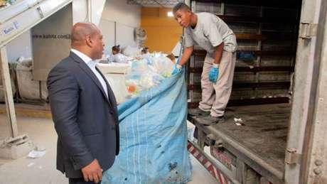 Júlio Santos atua no mercado de reciclagem há 16 anos
