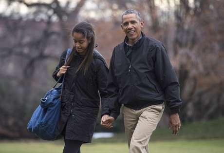 ¿Dónde estaba Sasha Obama en el discurso de su padre?