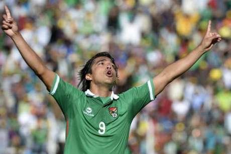 Marcelo Moreno tem 13 gols em 54 jogos pela seleção boliviana (Foto: Juan Mabromata / AFP)