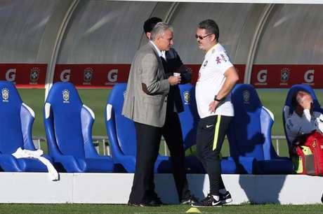 Tite já havia visitado a Seleção na Granja Comary (foto:Lucas Figueiredo / MoWA Press)