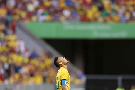 Neymar teve atuações apagadas nas duas partidas que disputou com a Seleção olímpica na Rio 2016