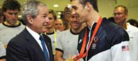 Phelps chegou a ser recebido pelo então presidente Bush após os jogos de Pequim