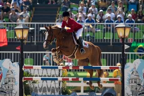 A portuguesa Luciana Diniz em prova de Salto realizada no último dia 14