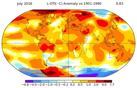 Gráfico da Nasa mostra zonas de temperatura na Terra