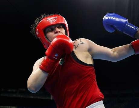 A boxeadora brasileira Andréia Bandeira
