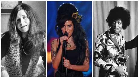 Janis Joplin, Amy Winehouse e Jimi Hendrix morreram aos 27 anos