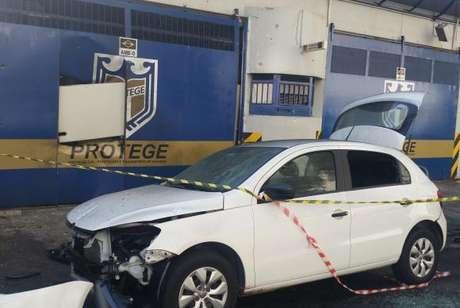 Durante a madrugada, uma quadrilha fortemente armada tentou assaltar a empresa de valores Protege na capital paulista