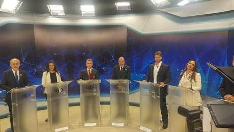 Debate dos candidatos à Prefeitura de Curitiba na TV Bandeirantes