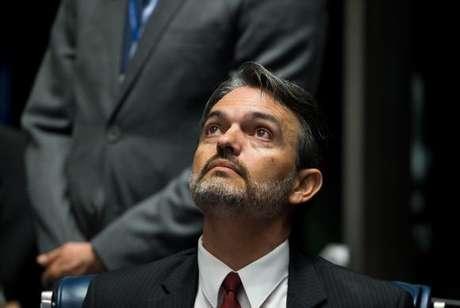 Júlio Marcelo de Oliveira é ouvido na condição de informante durante o primeiro dia da sessão de julgamento do impeachment da presidenta afastada Dilma Rousseff