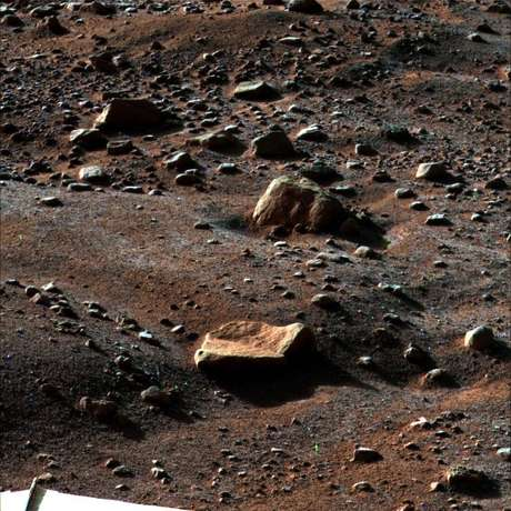 Solo de Marte fotografado pela sonda Phoenix Mars Lander