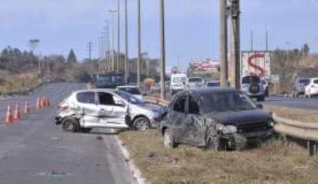 O total de mortes em acidentes de trânsito caiu 20,3% em relação a 2014