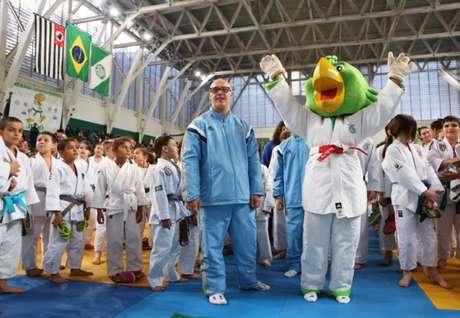 Mascote do Verdão marcou presença no Torneio Periquito - Foto: Fabio Menotti/Palmeiras