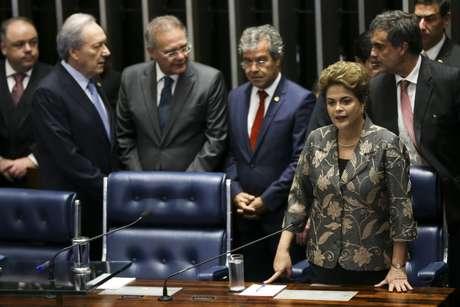 Em discurso de defesa, Dilma Rousseff reafirmou ser vítima de um golpe parlamentar
