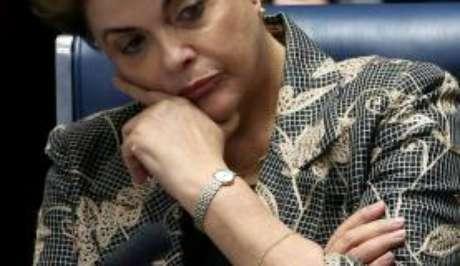 Dilma Roussef durante sua defesa no julgamento do impeachment no Senado