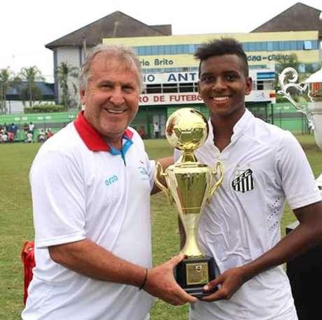 Atacante do sub-15 santista, Rodrygo foi eleito o melhor jogador da Copa Zico(Foto: Divulgação)