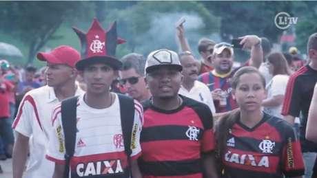 Torcida do Flamengo no Pacaembu (Foto: Reprodução/Lancenet)