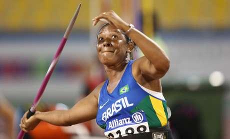 A atleta brasileira Shirlene Coelho durante prova de arremesso de dardo