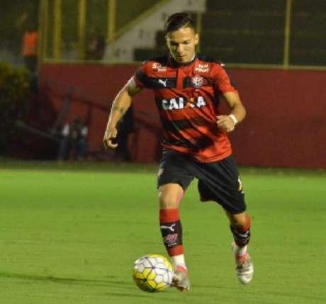 Euller durante jogo do Vitória na Série A do Brasileiro (Foto: Divulgação)