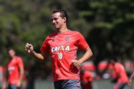 Damião em treino desta terça-feira (Gilvan de Souza / Flamengo)