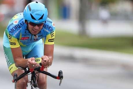 O ciclista brasileiro Lauro Chaman