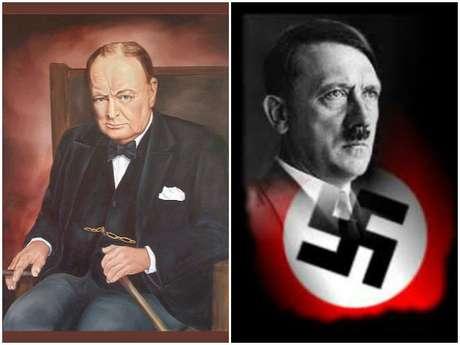 Churchill resistiu a Hitler