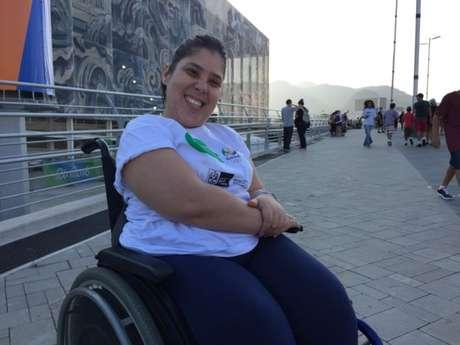 Julia Freitas assistiu, pela primeira vez, a uma competição paralímpica