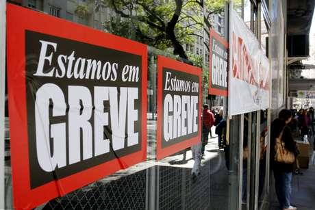 Agência bancária no centro de Porto Alegre (RS)