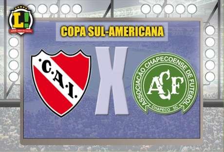 Independiente x Chapecoense: duelo será válido pelas oitavas da Sul-Americana (Foto: Montagem / LANCE!)