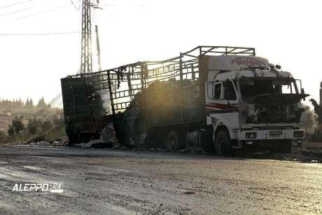 Bombardean convoy de ayuda humanitaria en Siria