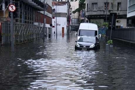 Rua da Lapa, no centro do Rio de Janeiro